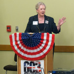 Diane Bitter at the podium