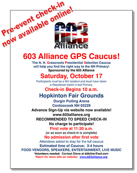 603 Alliance GPS Caucus Flyer