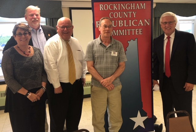 Spec Bowers at the Rockingham County GOP meeting